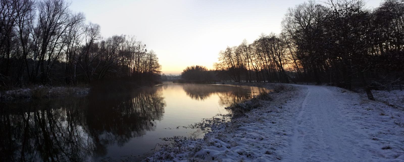Wintereinbruch 2012 in Eberswalde