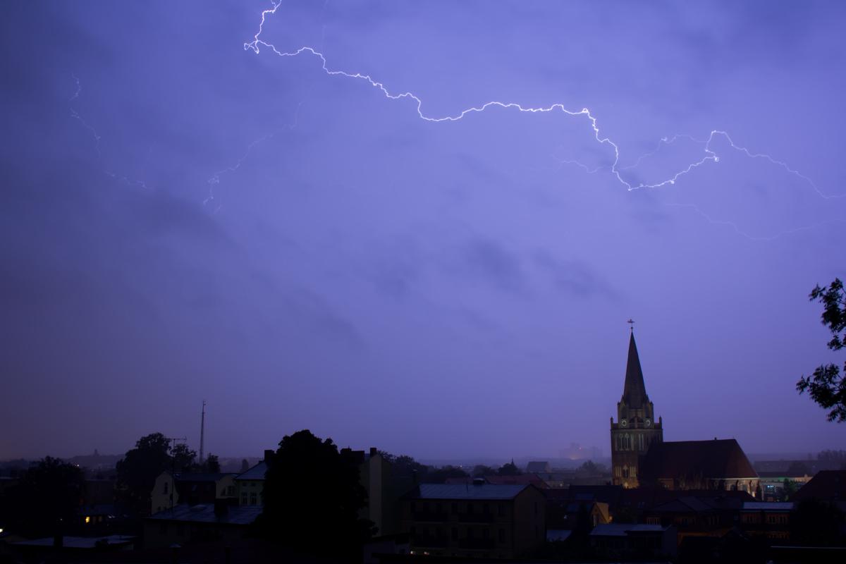 Blitze über Eberswalde